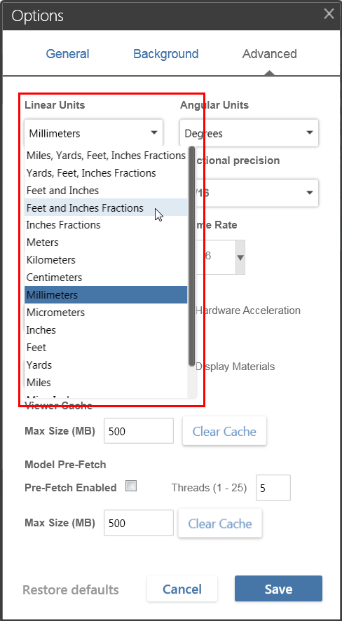 How To Change The Measurement Unit Standards In Bim 360 Glue Bim