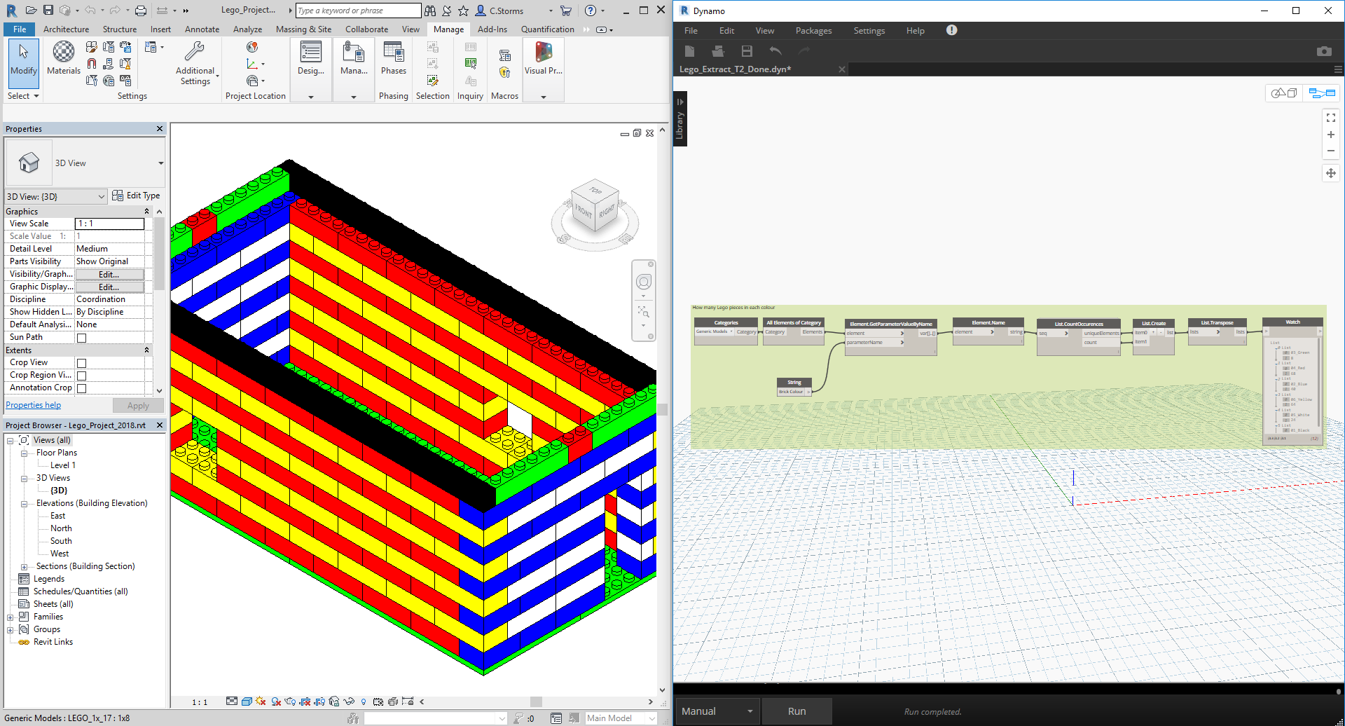 Revit Data Visualization with Dynamo and the Mandrill