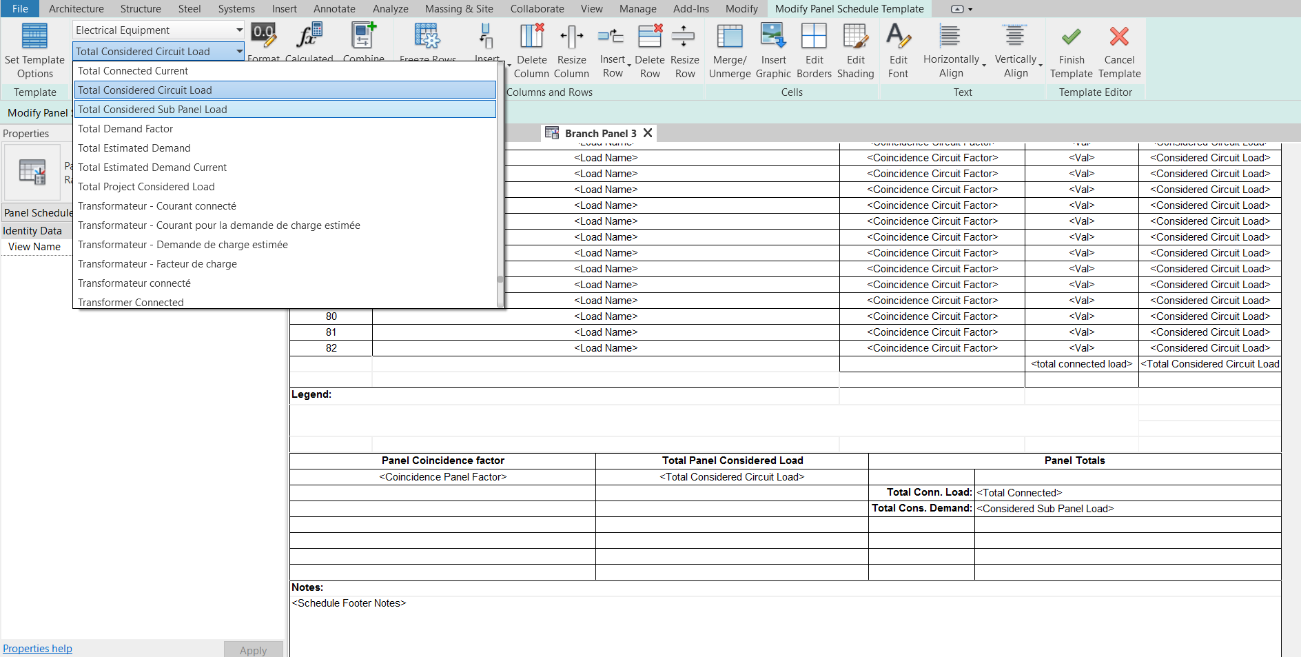 Advanced Panel Schedule Customization For Power Management Revit Products Autodesk Knowledge Network