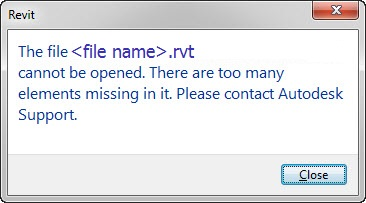 Revit Error message version two