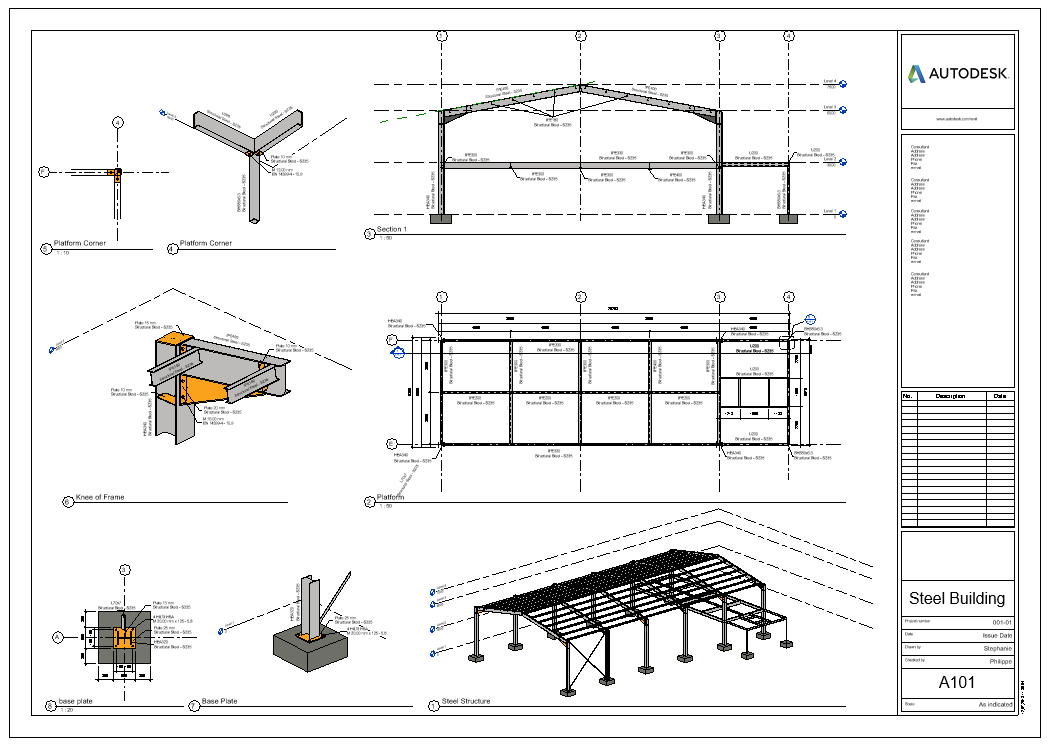 Engineering documentation including layout and connection