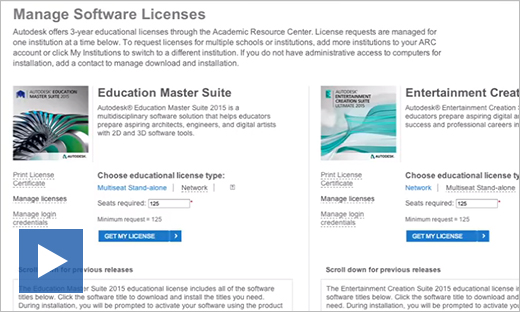 Get Licenses Software ARC